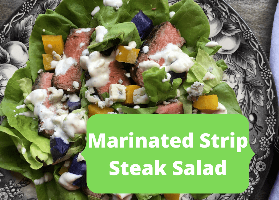 Marinated Strip Steak Salad